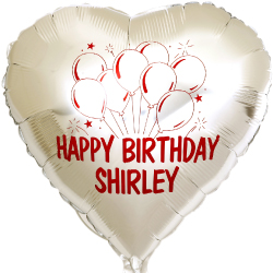 Heart shape mylar foil balloon for Birthday