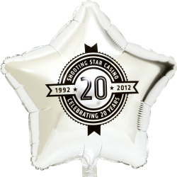 Star shape mylar foil balloon for Birthday