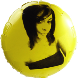 Round shape mylar foil balloon for Birthday