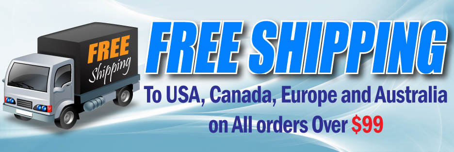 FREE-SHIPPING TO USA, CANADA, EUROPE AND AUSTRALIA ON ALL ORDERS